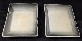 Vee Jackson Ashtray San Gabriel California Pottery Ombre Gray SET OF 2 - $14.01