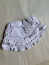 BUILD A BEAR BABW  WHITE DENIM JEAN SKIRT TEDDY CLOTHES W Stain Inside - $14.85