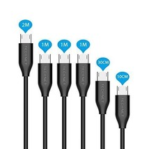 Micro USB Cable TeckNet Ultra Durable [6-Pack] in Assorted Lengths(0.1M,... - $12.00