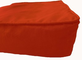 """Box Cushion Cover Solid Polyester 16x16x5"""" Bright Orange with Piping & Z... - $17.82"""