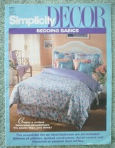 Vtg 1993 Simplicity DECOR Bedding Basics Instructional Pillows Comforter... - $19.75