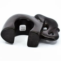 Hand Carved Gusii Soapstone Black Kilimanjaro Elephant Figurine Made in Kenya image 5