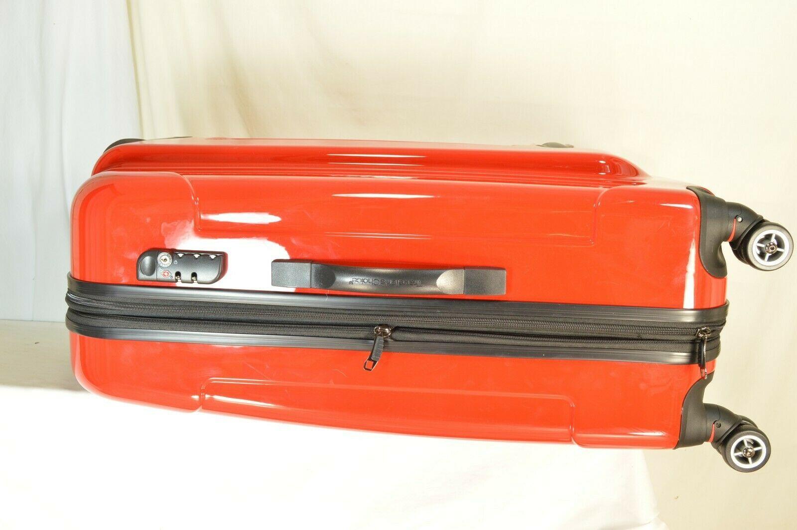 "Traveler's Choice 29"" Sedona new spinner red polycarbonate shell combo lock image 11"