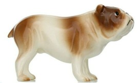 Hagen Renaker Miniature Dog Bulldog Brown and White Ceramic Figurine