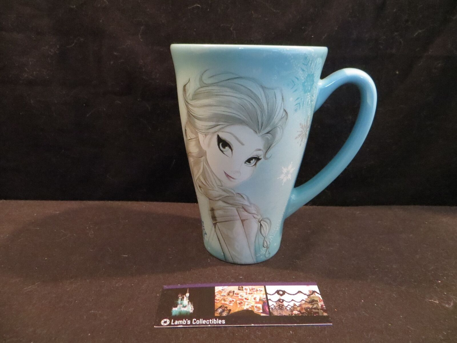 Primary image for Disney Store Authentic Elsa Frozen sketch mug 12 oz light blue coffee tea cup