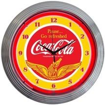 "Coca-Cola Wings Neon Clock 15""x15"" - $72.99"