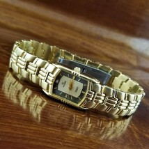 New Women's ELGIN Diamond Accent Gold TN Bracelet Watch - $79.95