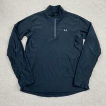 Under Armour Quarter Zip Jacket Men's Small Long Sleeve Black Mock Neck - $18.95
