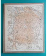 "BELGIUM Antwerp Town Plan  - 1905 CITY MAP 9 x 11""  (22.5 x 28 cm) - $21.60"