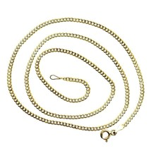 Mens Italy Cuban Link 14K White Gold 24 in Chai... - $225.00