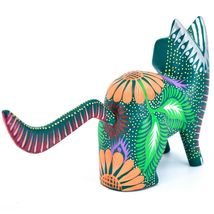 Handmade Alebrijes Oaxacan Copal Wood Carving Painted Cat Kitten Figurine image 3