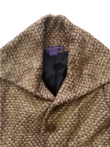 Brown Gold Ralph Lauren Collection Women Blazer Coat Jacket Sz 4 Made in USA image 7