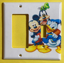 Mickey mouse Donald Duck Goofy Pluto Switch Outlet Wall Cover Plate Home decor image 4