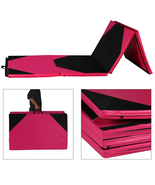 "4' x 10' x 2"" Gymnastics Gym Folding Exercise Mat Yoga Panel Fitness Exe... - $104.99"
