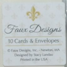 Faux Designs 231011 Graduate Blue Cards and Envelopes Off White Paper Package 10 image 3