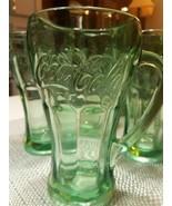 Set of 8- Mint Condition Vintage Green Coca Cola Glass Mug- LIBBEY- 14OZ - $30.68