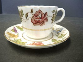 Royal Worcester Cup and Saucer - Virginia Pattern - $7.60