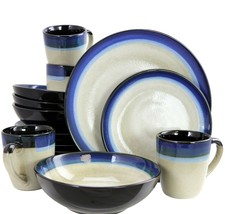 Gibson Couture Bands 16 Piece Stoneware Dinnerware Set - $74.20