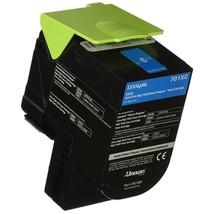 Lexmark Genuine 70C1XC0 Genuine Cyan Extra High Yield Cartridge 70C1XC0 - $129.36