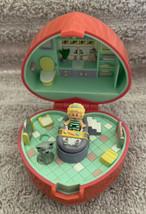 Vintage Polly Pocket 1991 Bathtime Fun Ring Case Complete Set Bluebird - $39.59