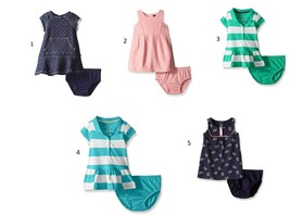 Nautica Infant Baby Girl's Dress with Diaper Cover Classic Styles NEW Licensed
