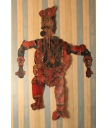 Threather show shadow leather puppet original 19th century collectible a... - $926.27