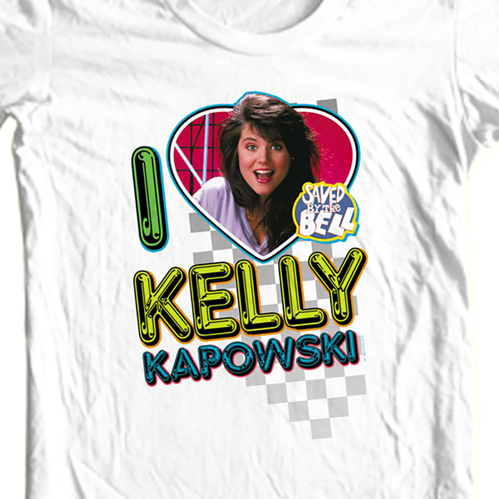 Kelly Kapowski Saved by the Bell t-shirt 1980's retro teen TV show NBC144