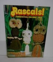 """Vintage 1978~""""3-Dimensional Macrame Owls"""" Instruction Booklet for 13 Pro... - $34.95"""