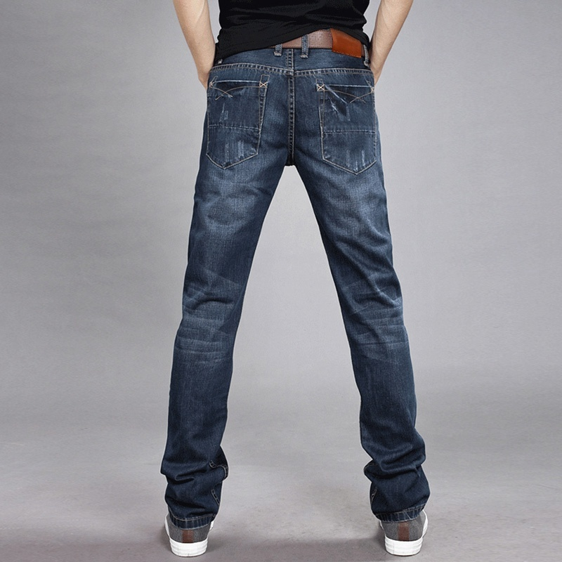 Men's Jeans - Autumn And Winter - Slim Straight