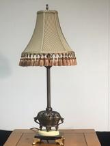 Quoizel Lighting Table Lamp MCM Metal Ornate Base with Original Shade - $87.40