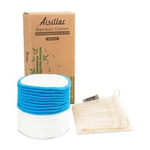 Aisillac 20Pcs Reusable Cotton Rounds, Makeup Remover Organic Bamboo Cot... - $21.77