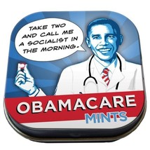 President ObamaCare Mints Breath Mints Box of 12 Illustrated Tins, NEW S... - $41.59