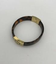 Michael Kors Acetate Tortoise Gold Tone Hinge Bracelet Bangle Cuff MKJ1031 - $39.59