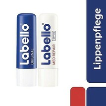 Labello Original + MED Protection lip balm/ chapstick -2 pack - FREE SHI... - $16.82