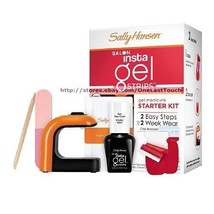 SALLY HANSEN* Salon Insta Gel RED MY LIPS Nail Polish Strips Starter Kit... - $19.79