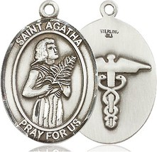 St. Agatha Nurse Oval Patron Saint Series - $78.99