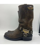 Harley Davison  Brown Leather Boots Mens Size 9M - $68.31