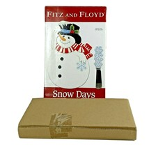 Fitz and Floyd Snow Days Christmas Snowman Snack Plate With Spreader New... - $19.79