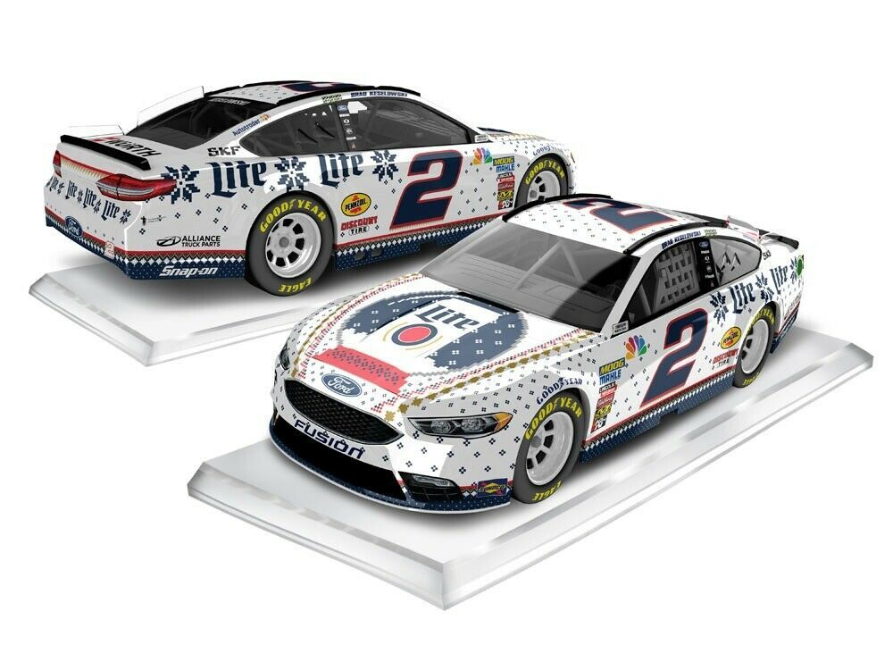 Brad Keselowski 2018 #2 Miller Lite Holiday Knit Sweater Ford Fusion1:64 ARC -