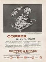 Cutaway Desk TELEPHONE Diagram 1956 Copper Industry AD - $12.99
