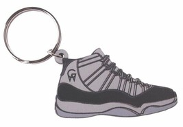 Good Wood NYC Concord 11 Black Sneaker Keychain Blk XI Shoe Key Ring Key Fob