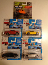 LOT OF 5 Maisto Cars 1/64 Ford PU,Chrysler,Street Rod & More On Cards - ... - $4.88