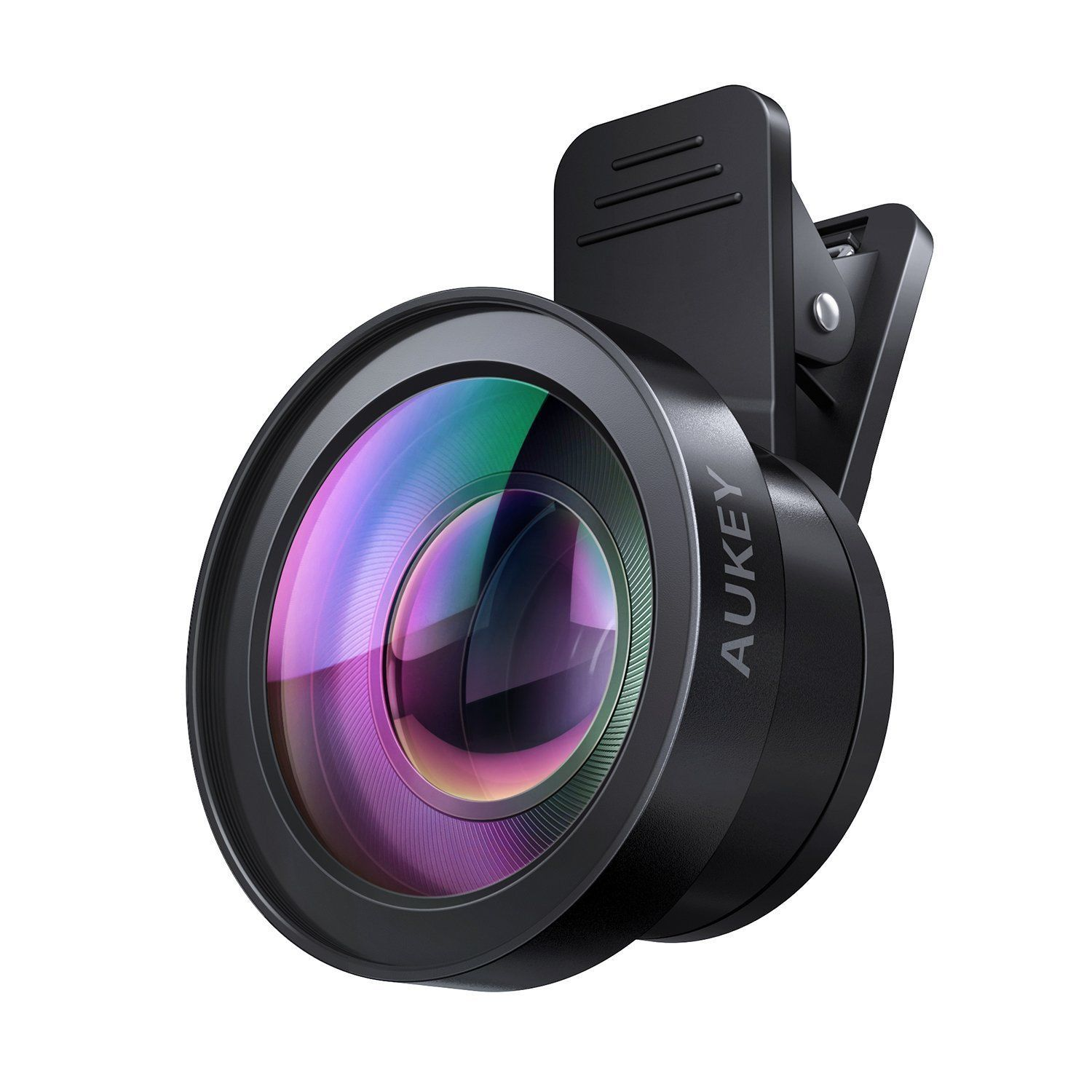 AUKEY Ora iPhone Camera Lens 0.45x 120° Wide Angle + 15x Macro Clip-on Cell ...
