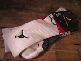 Jordan Nike Jumpman Advance Drifit Chausettes TAILLE L 8-12 Neuf 642209-103 - $15.49