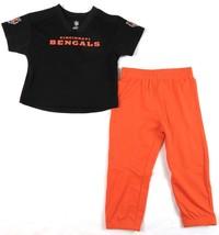 Cincinnati Bengals Toddler Lil' Field Pant Set NFL Jersey Pants 2 Piece Boy's