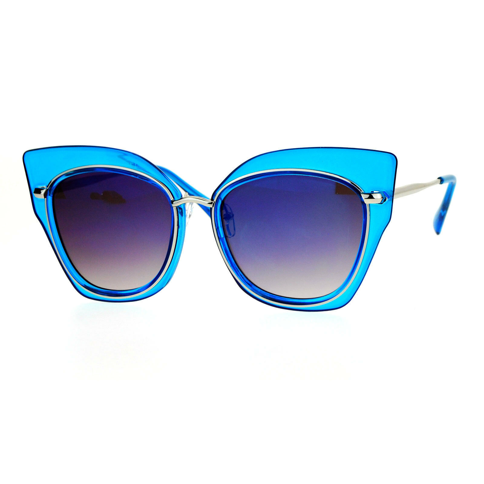Oversized Womens Sunglasses Big Square Butterfly Double Frame Mirror Lens