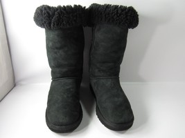 UGG AUSTRALIA Sz US 7/UK 5/EU 37 Black Tall Bailey 3 Bow winter boots Women - $1.429,32 MXN