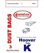 Hoover Type K, Vacuum Cleaner Bags, 3 Pack - $5.48