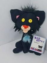 """Bad Kitty w/ tag Stuffed Plush Black Cat Nick Bruel 2007 Book Character Doll 7"""" - $9.89"""