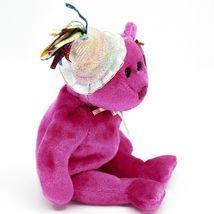 2002 Ty Birthday Beanie Baby January the Pink Teddy Bear Beanbag Plush Toy image 4